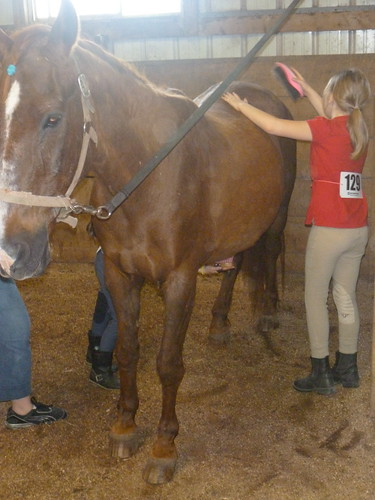 Getting Cody ready May 2012