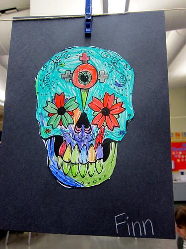 Finn's Dia de los Muertos skull