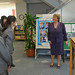 UN Women Executive Director Michelle Bachelet speaks with students from Shibuya Junior and Senior High School, where she addressed to the student body and held an interactive discussion