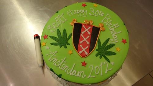 Amsterdam Smoking Birthday Cake by CAKE Amsterdam - Cakes by ZOBOT