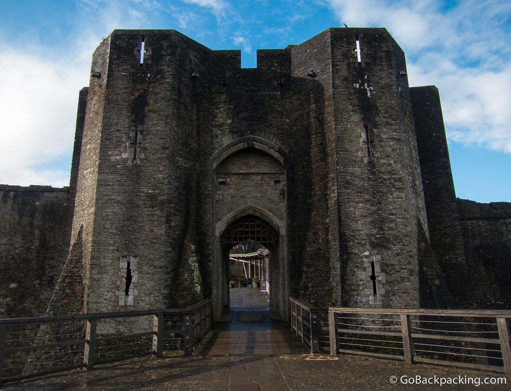 The main entrance to the castle