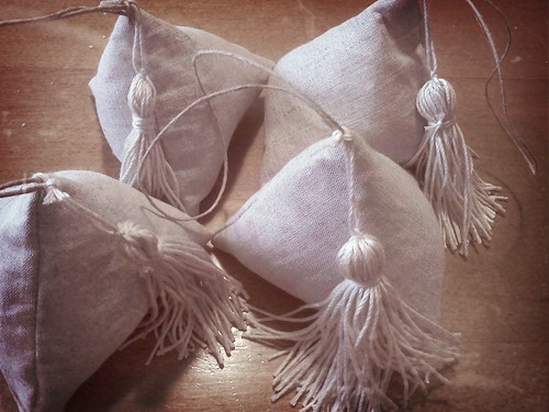 lavender scented pyramids with Tassels by sandySTC