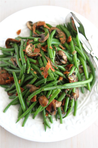 Fresh Green Beans with Bacon, Mushrooms & Herbs Recipe | cookincanuck.com