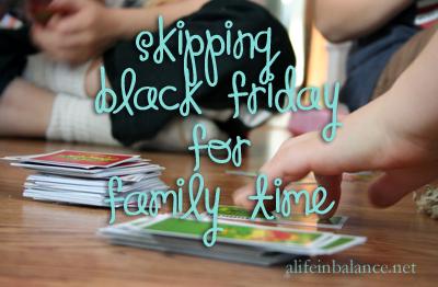 Skipping Black Friday
