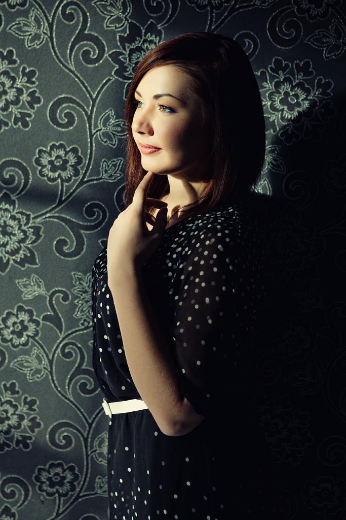 Фотосессия девушки в студии, портретная фотосессия