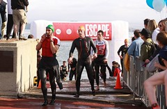 Alcatraz Swim Finish