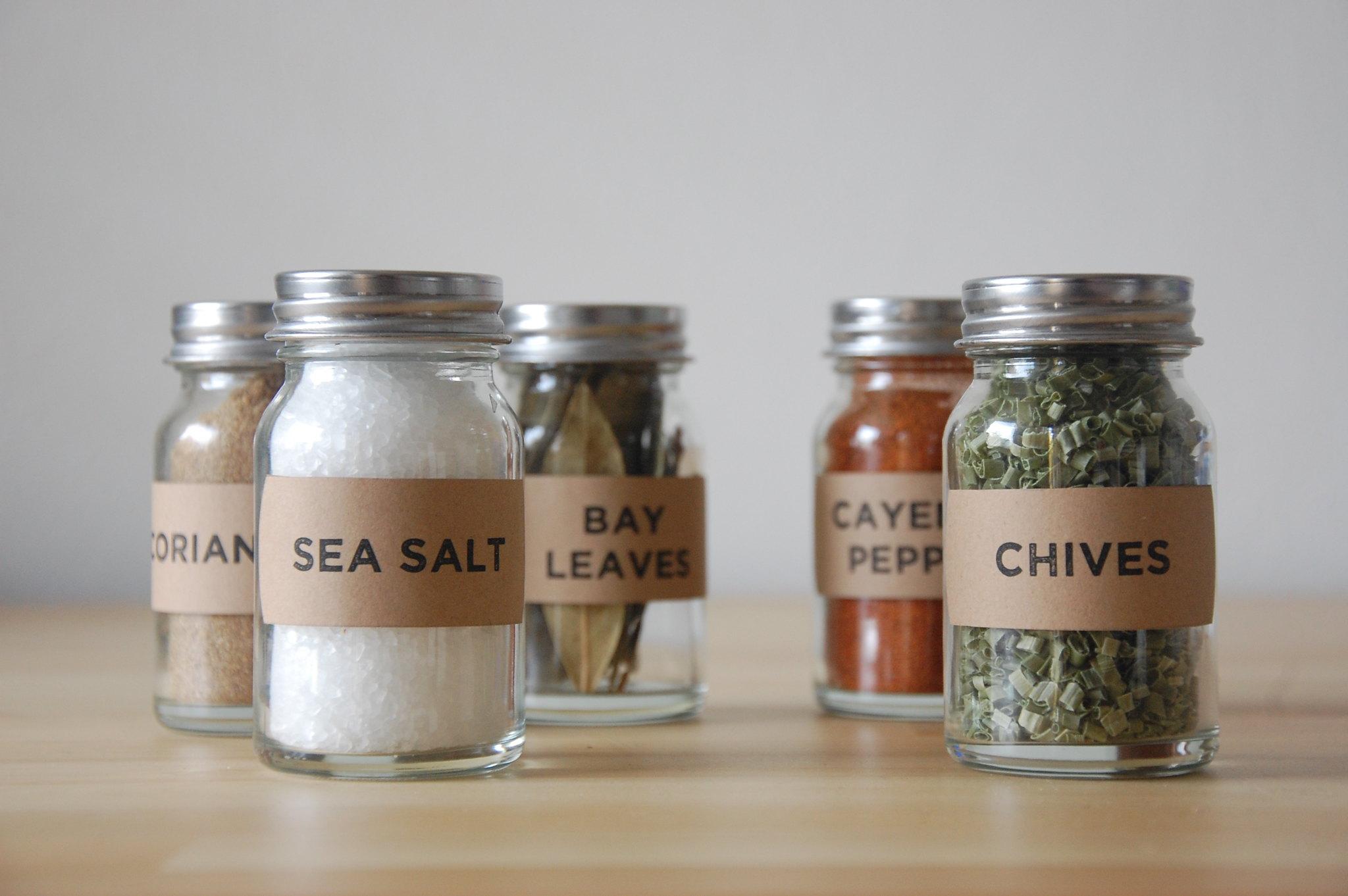Well it 39 s okay simple diy spice jars for Diy bottles and jars
