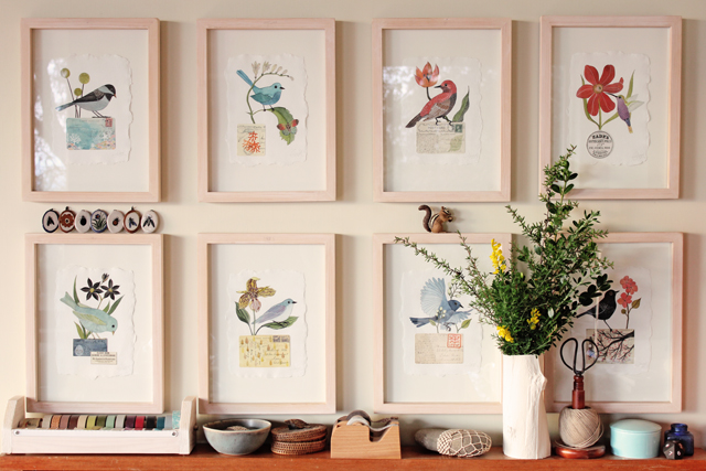 Birds in frames