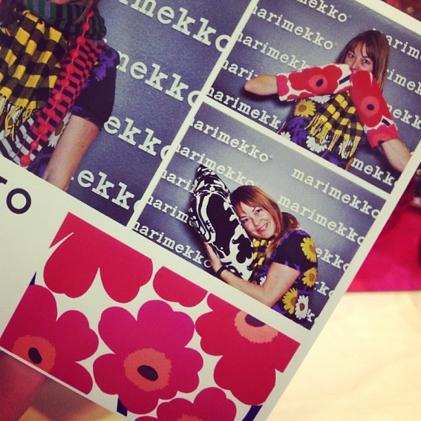 You guys, Marimekko photo booth!