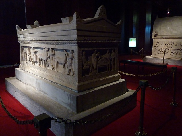 P1390362  Sarcophagus in  istanbul museum