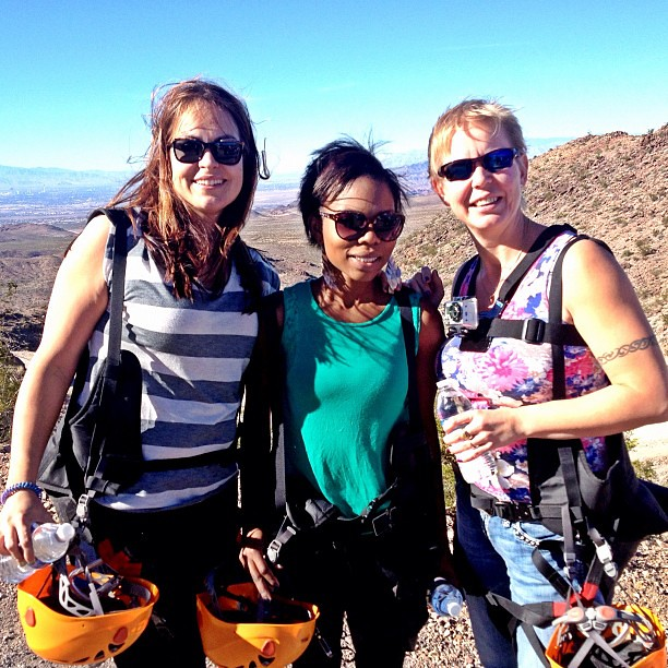 Bootleg Canyon. #vegas. Mountain hike, 2mile zip lining with my ladies @frostkp3