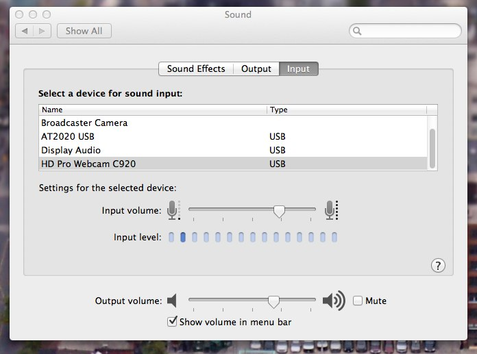 System Sound Settings