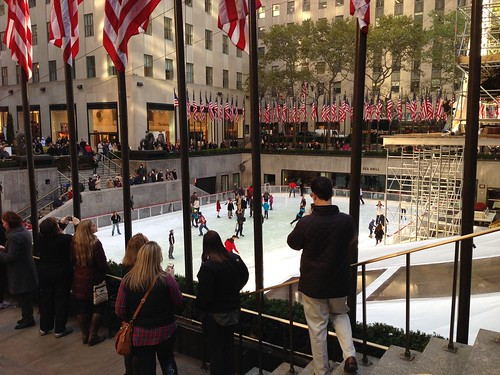 Ice skating rink, Rockefeller Center