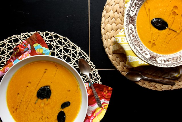 ... Soup A Hot Bowl of Spicy Lentil Soup with Buttered Bread Vegan Creamy