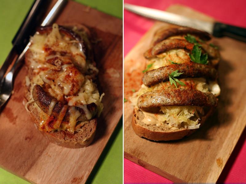 bratwurst-brote in 2 varianten