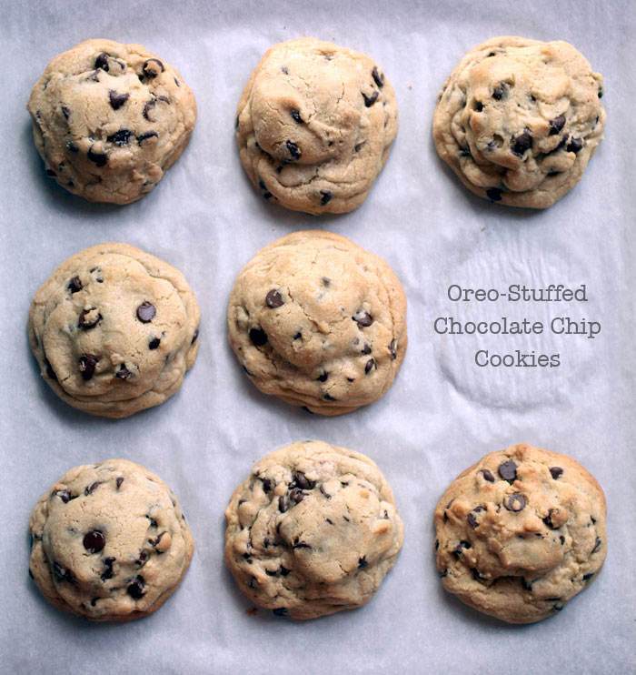 Picky Palate's Oreo-Stuffed Chocolate Chip Cookies