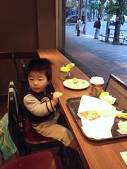 朝散歩 - スタバで朝御飯 (2012/11/19)