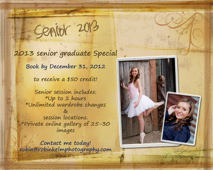 Senior 2013 marketing special web