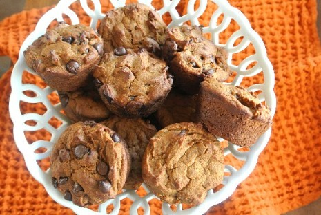 Pumpkin Muffins some with chocolate and some without. Great for that special day.