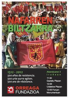 Orreaga Fundazioa organiza un año más los actos populares del Nafarren Biltzarra 2012