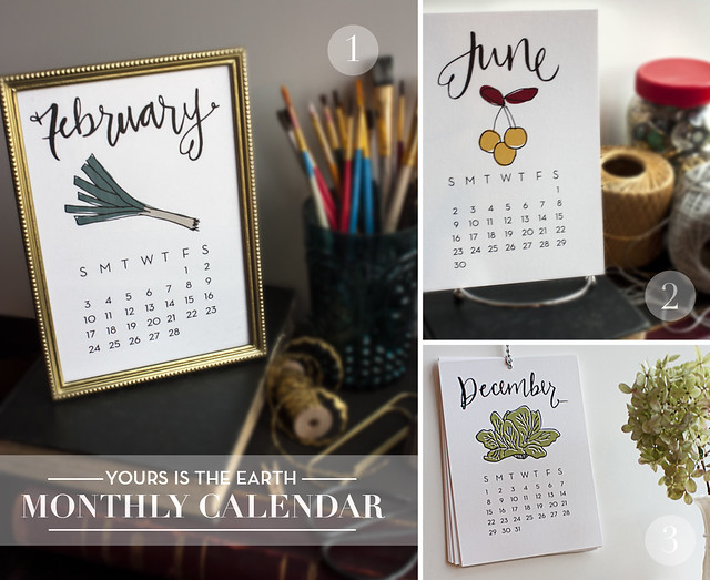 Monthly Desk Calendar- 3 Ways
