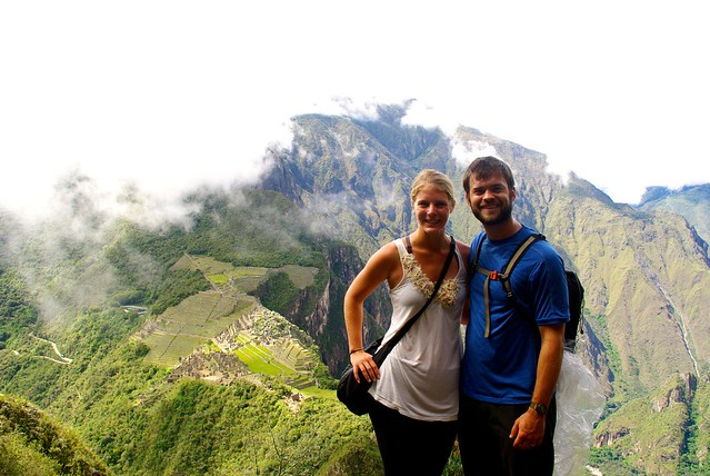 josh and caroline eaton at machu picchu