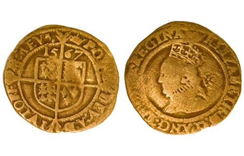 1567 Elizabeth I coin