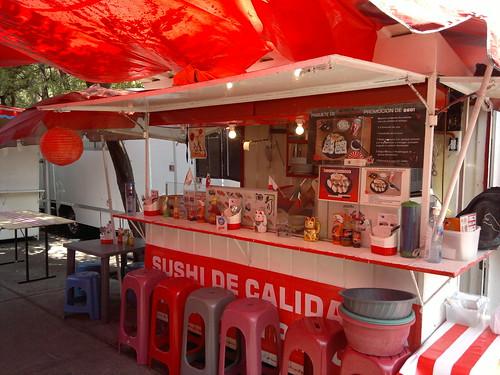 Sushi street stall