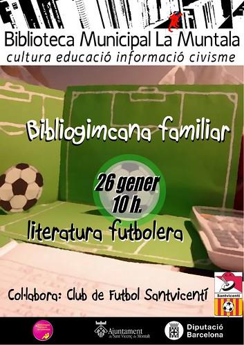 Bibliogimcana familiar: literatura futbolera @ 26 gener 10 h. by bibliotecalamuntala