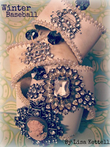 Jeweled Baseball Cuffs 2