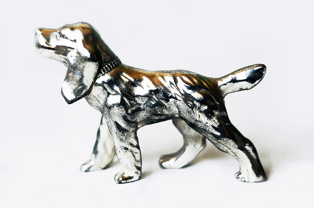 Vintage Cast Metal Dog Figurine