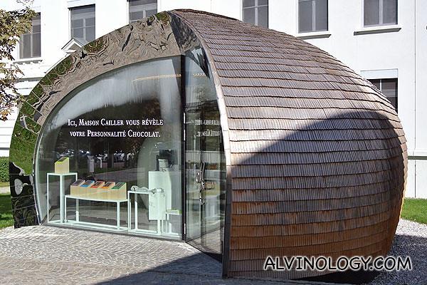 The building is shaped like a hazelnut