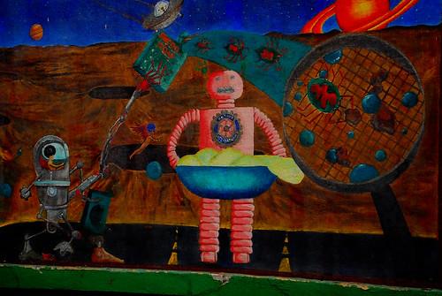 Mural--Robot Laundry