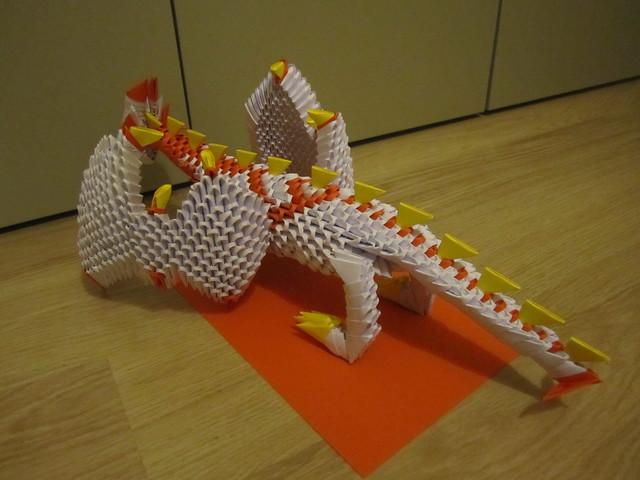 3D origami Dragon   Flickr - Photo Sharing!