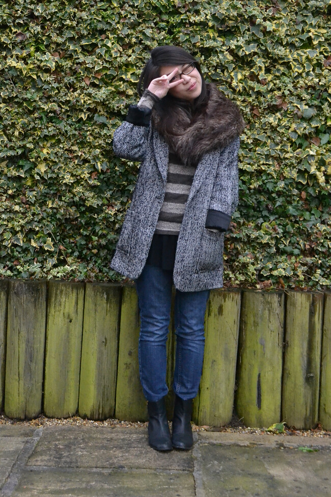 daisybutter - UK Style and Fashion Blog: what i wore, ootd, wiwt, AW12, glamorous, ginger pickle