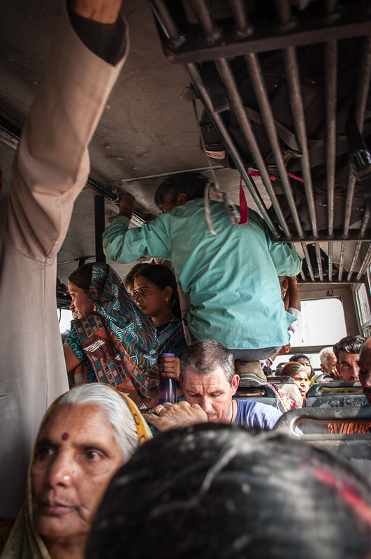 Bus conductor in the India.