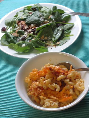 Mac N Cheese and Salad