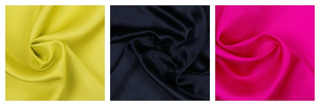 All three of these are silks available at moodfabrics.com!
