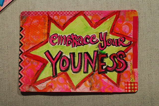 Postcard: Embrace your youness made by @iHanna .- made for the #Diypostcardswap