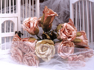 rosas secas artificiales