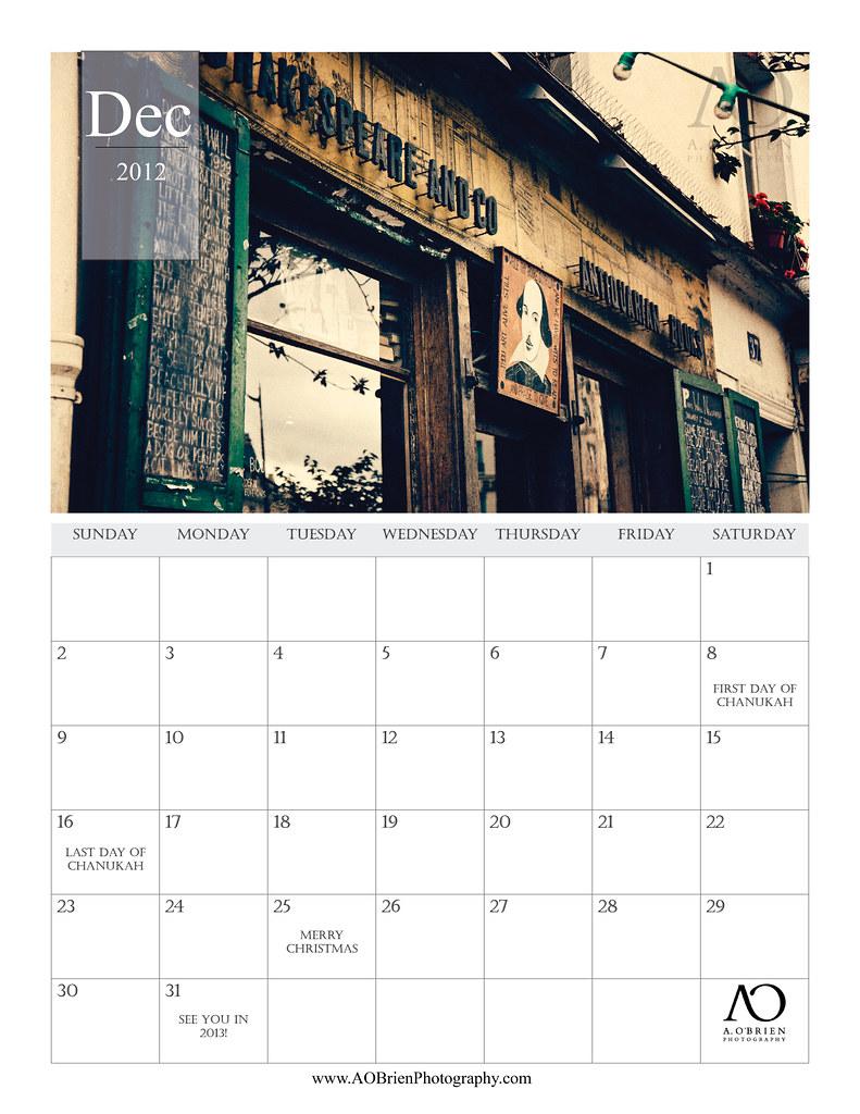 Dec Calendar