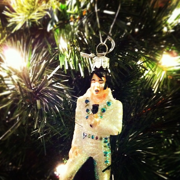 Glitter Elvis Ornament