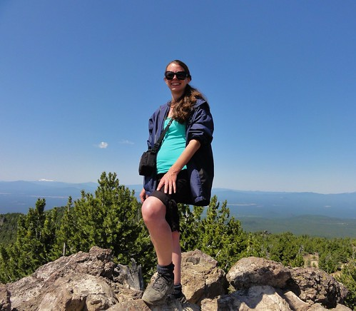 Moi atop Paulina Peak, Newberry Crater, Oregon. This is a high, craggy bit of a long and low shield volcano that contains one of the greatest obsidian flows ever. I'm also surrounded by stratovolcanoes up here. It's outstanding.