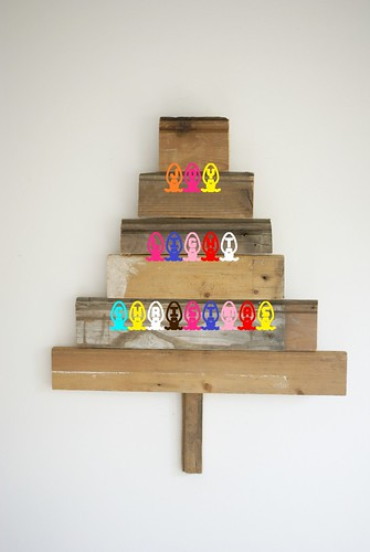 joy ☆ light ☆ christmas by wood & wool stool