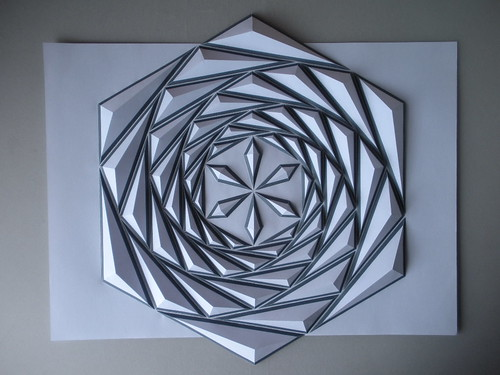 hexagonal origami mosaic design