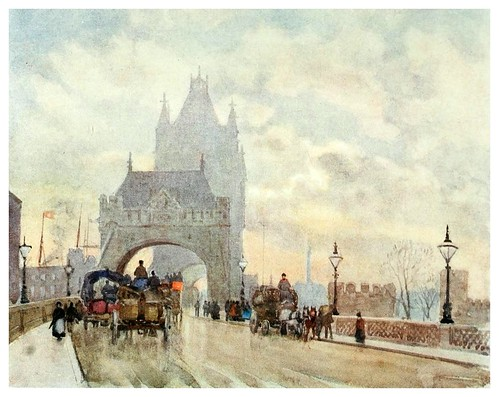 026-El puente de la Torre de Londres- The scenery of London- 1905-Herbert Marshall