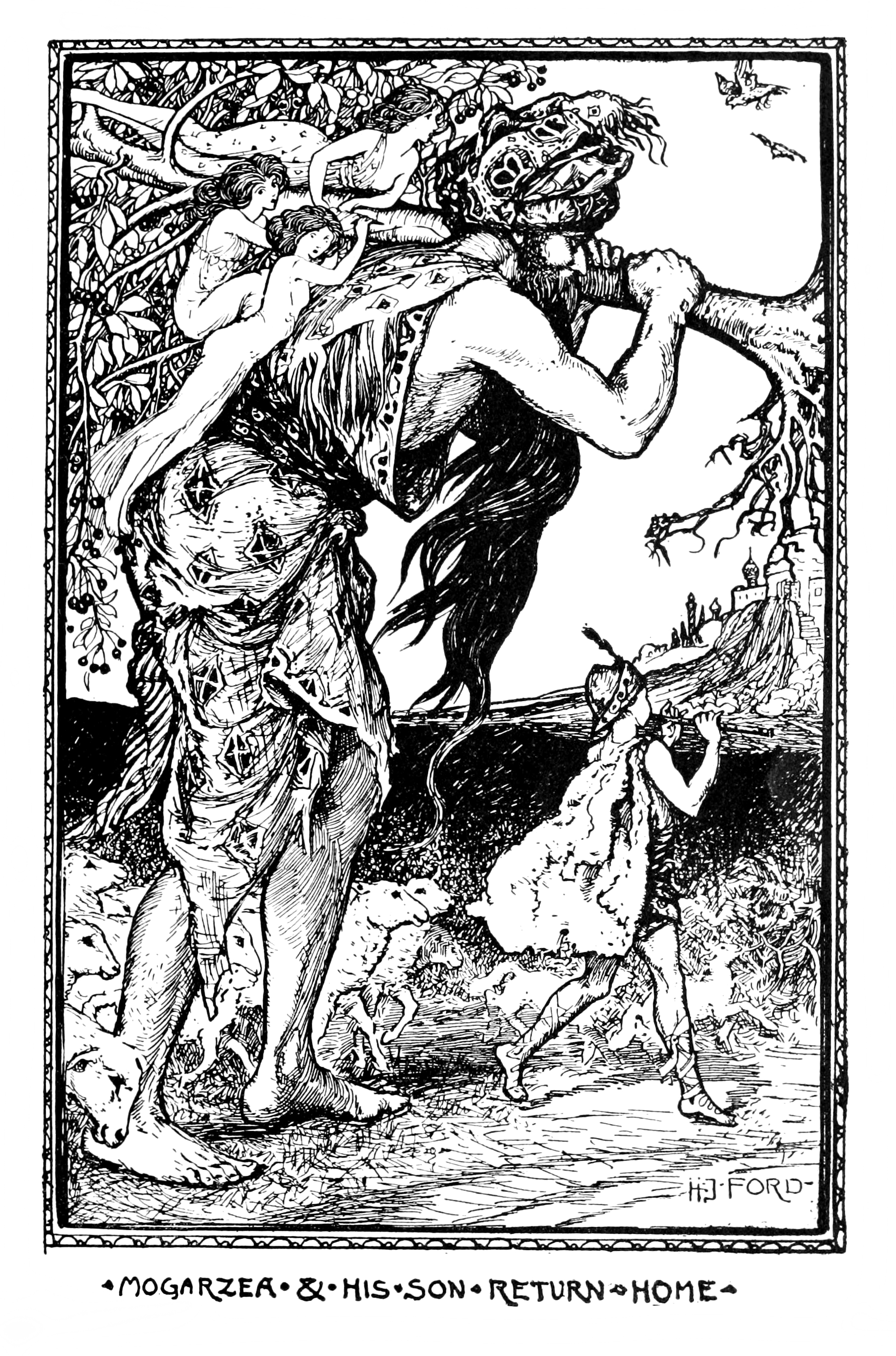 Henry Justice Ford - The violet fairy book, edited by Andrew Lang, 1906 (illustration 11)