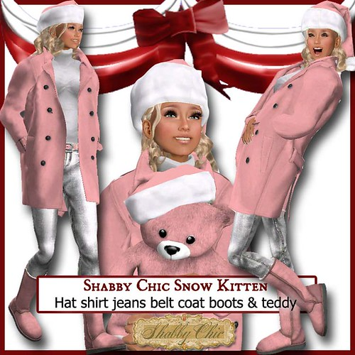 Shabby Chic Snow Kitten in Pink by Shabby Chics
