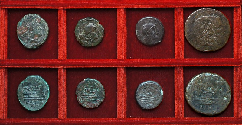 RRC 097 L Luceria bronzes (2) Ahala collection, coins of the Roman Republic