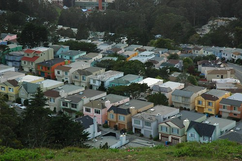 Hidden neighborhood, Midtown Terrace, little boxes, behind Twin Peaks, San Francisco, California, USA by Wonderlane